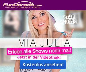 Starshow mit Mia Julia auf FunDorado.com