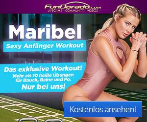 Maribel Lorberg bei ihrem Workout auf FunDorado.com